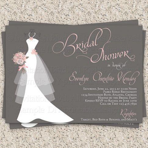 Wedding Invites Free Bridal Shower Design Pinterest Bridal
