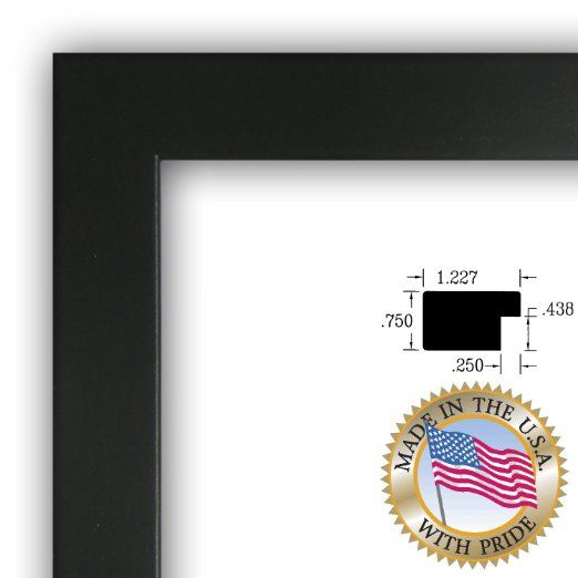 13x26 13 X 26 Picture Frame Satin Black 1 25 Wide Black Picture Frames Picture Frames Black Picture