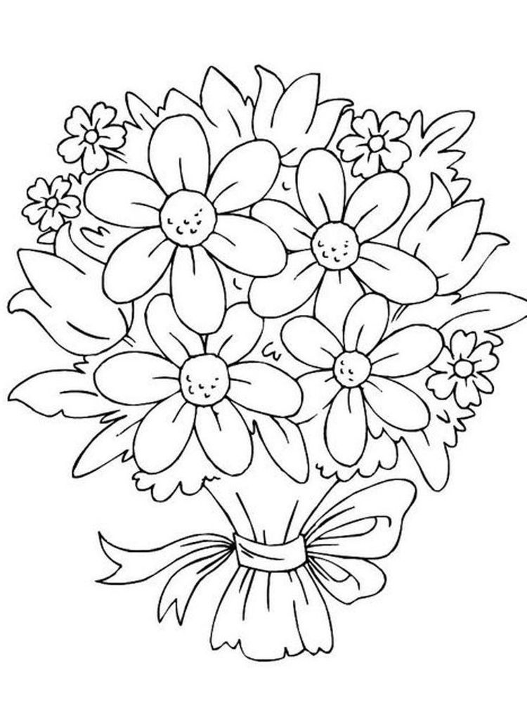Flower Basket Coloring Pages Below Is A Collection Of Beautiful Flower Coloring Page Whic Printable Flower Coloring Pages Flower Coloring Pages Flower Drawing
