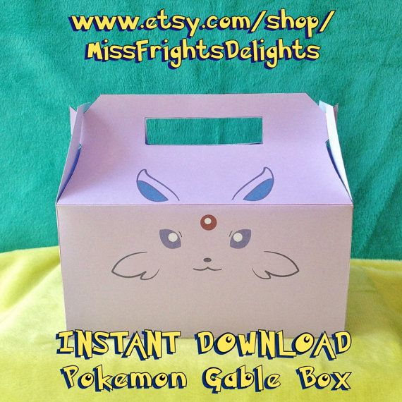 Pokemon Inspired Gable Box Espeon Instant by ...