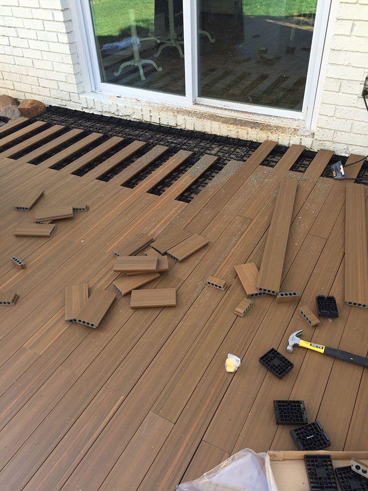 deck over concrete patio flooring