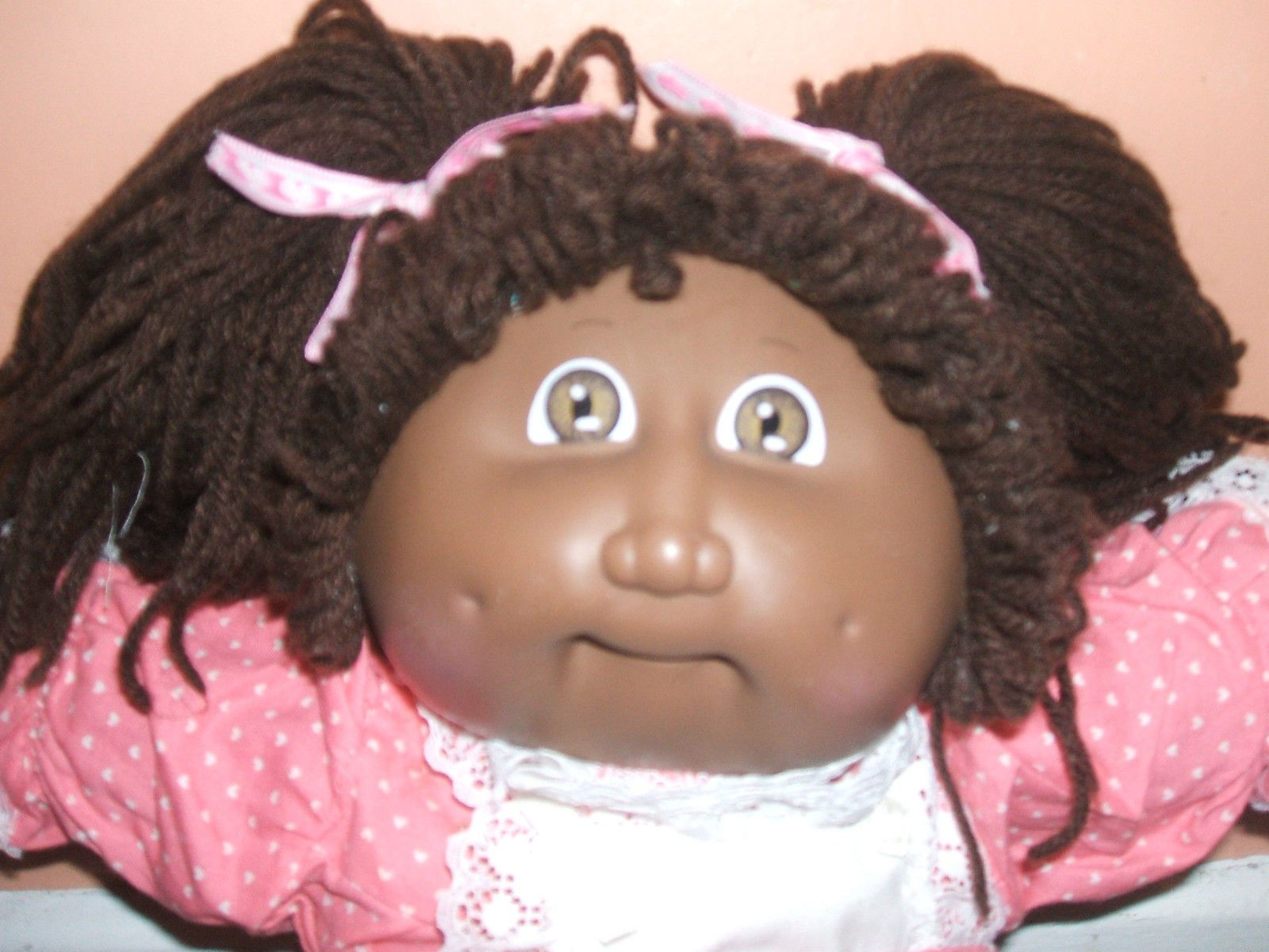 Vintage Cabbage Patch Doll Black Girl Beautiful Pink Dress 80s Retro Vintage Vintage Cabbage Patch Dolls Cabbage Patch Dolls Beautiful Pink