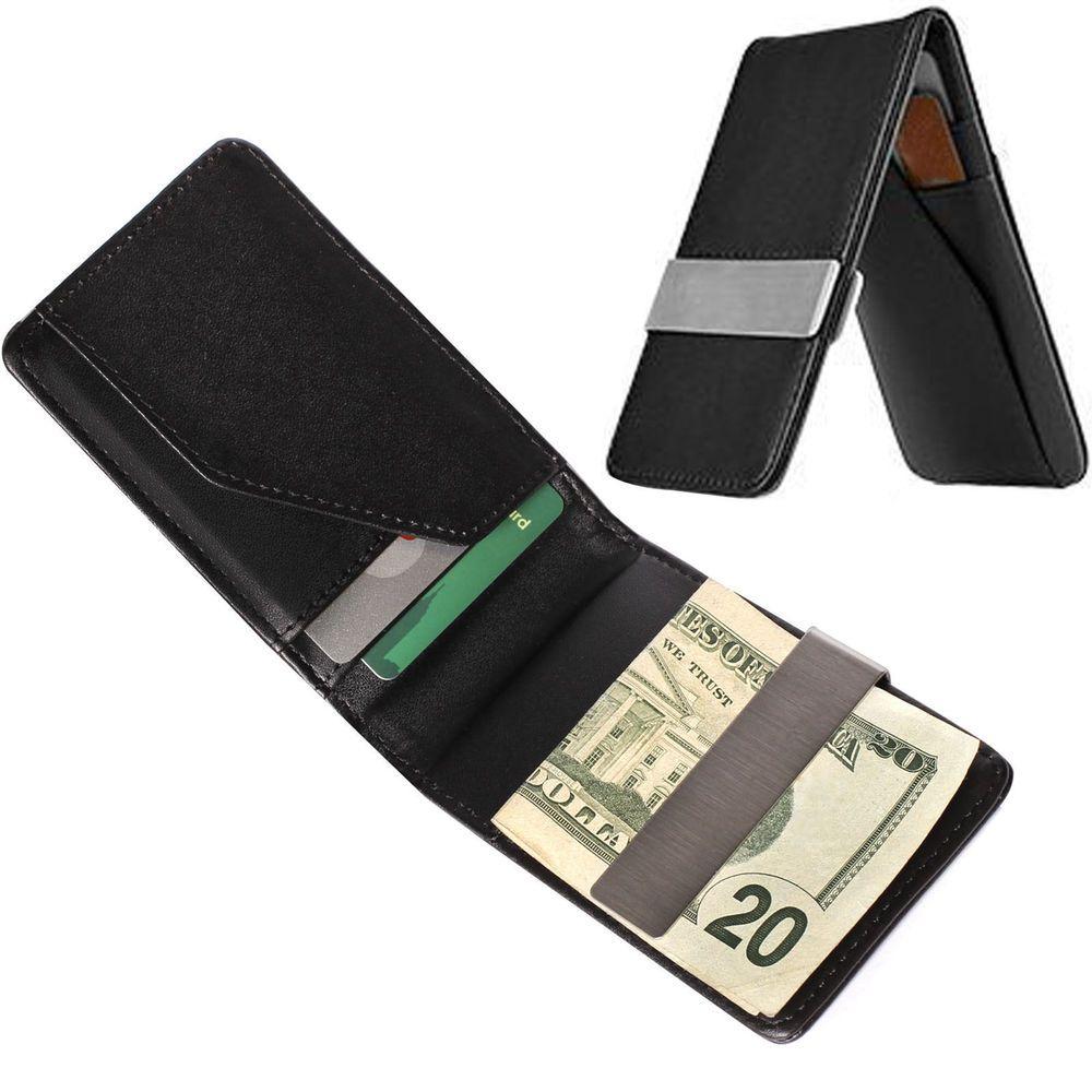 Steel Slim Men Purse Wallet For Men/'s Accessories Money Clip ID Cash Holder