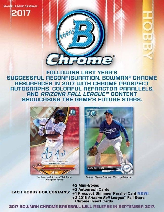 Baseball Cards   Bowman Chrome Baseball Hobby Box