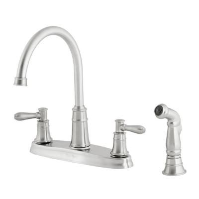 Pfister Harbor 2 Handle Kitchen Faucet In Stainless Steel F 036 Cl4s At The Home Depot Kitchen Faucet High Arc Kitchen Faucet Stainless Steel Kitchen Faucet