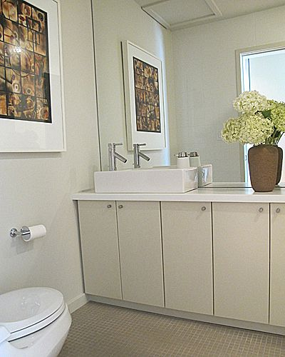 How To Make A Small Bathroom Feel Larger Kitchen Cabinets In Bathroom Ikea Sinks Bathroom Mirrors Diy
