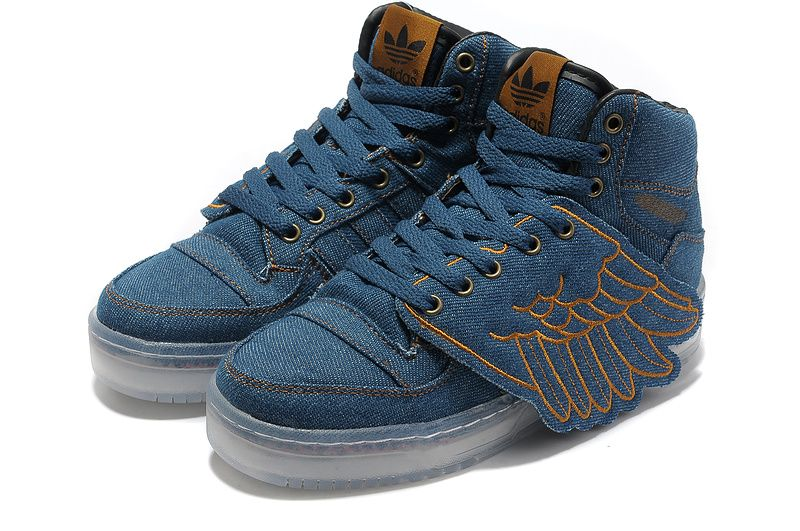 adidas jeremy scott wings denim shoes