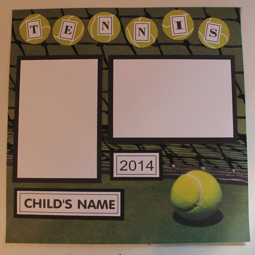 Graduation scrapbook ideas pinterest - 1 Pre Made 12 X 12 Tennis Scrapbook Page Personalized Name And Year