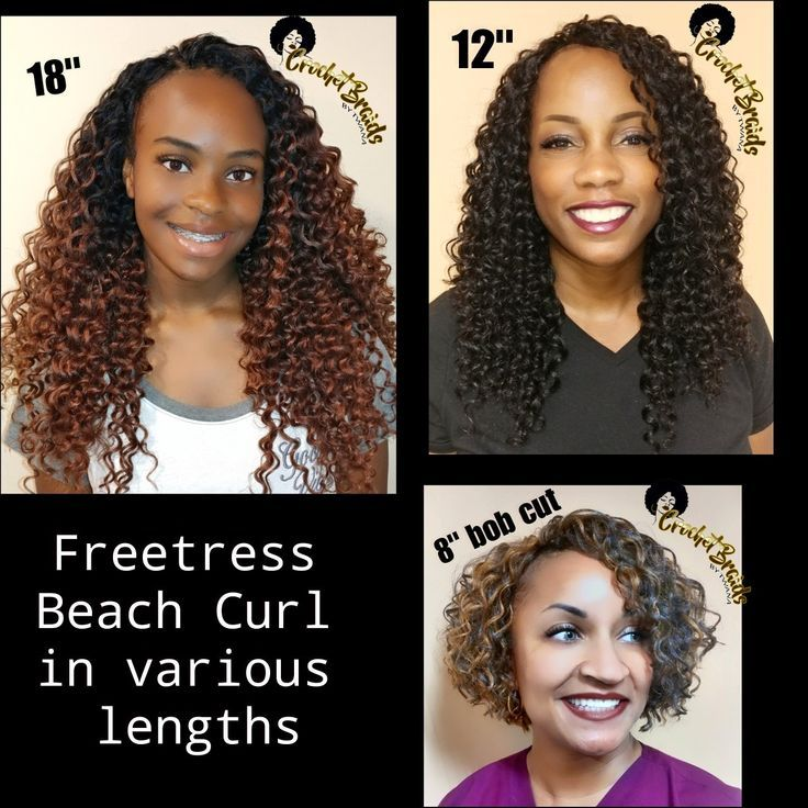 American and African Hair Braiding : Same hair, three different ways, three colors/lengths. Freetress Beach, 18 in c #crochetbraids