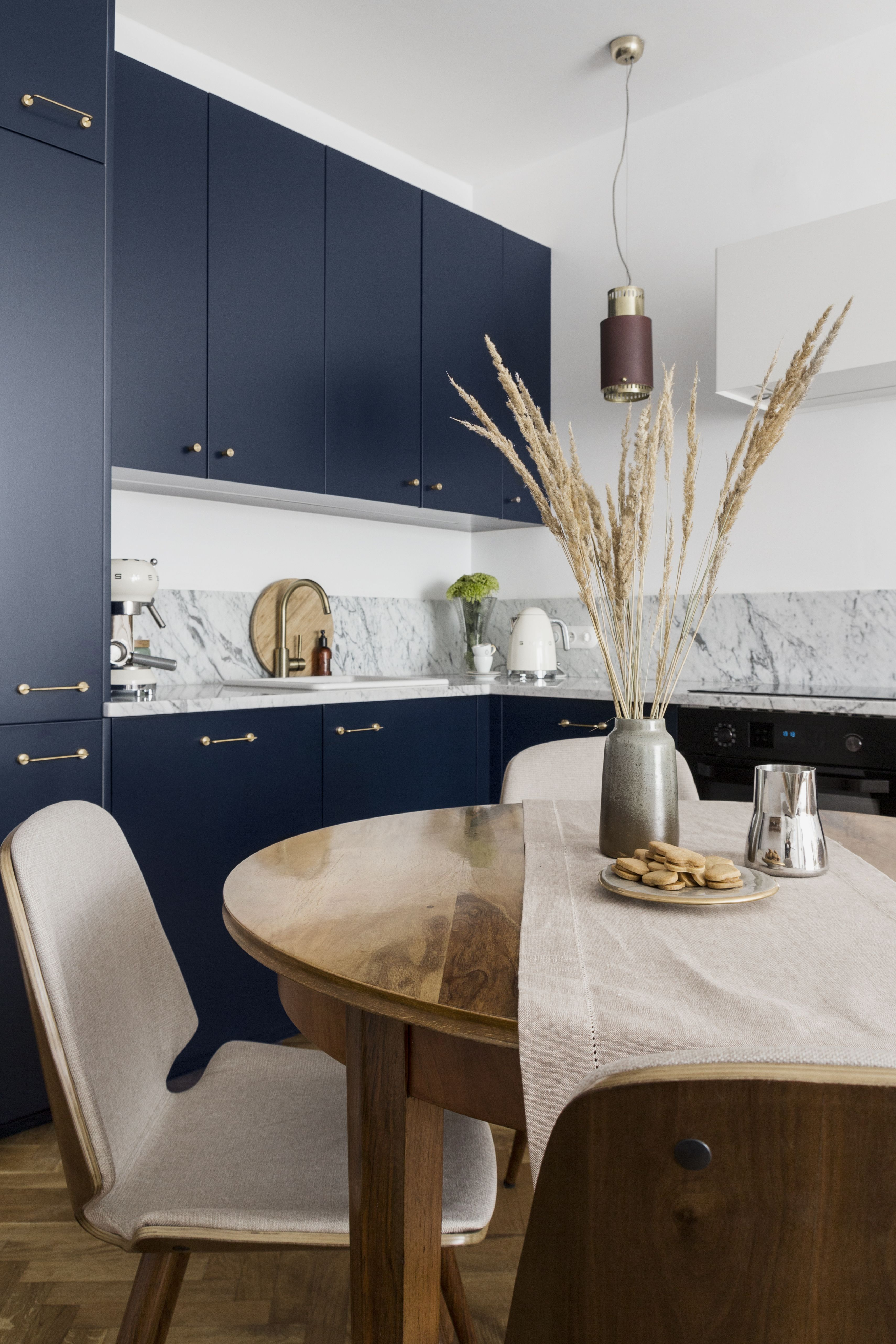 Pure Navy Blue Fronts On Ikea Metod Kitchen Modern Grey Kitchen Ikea Metod Kitchen Kitchen Cabinets Painted Grey