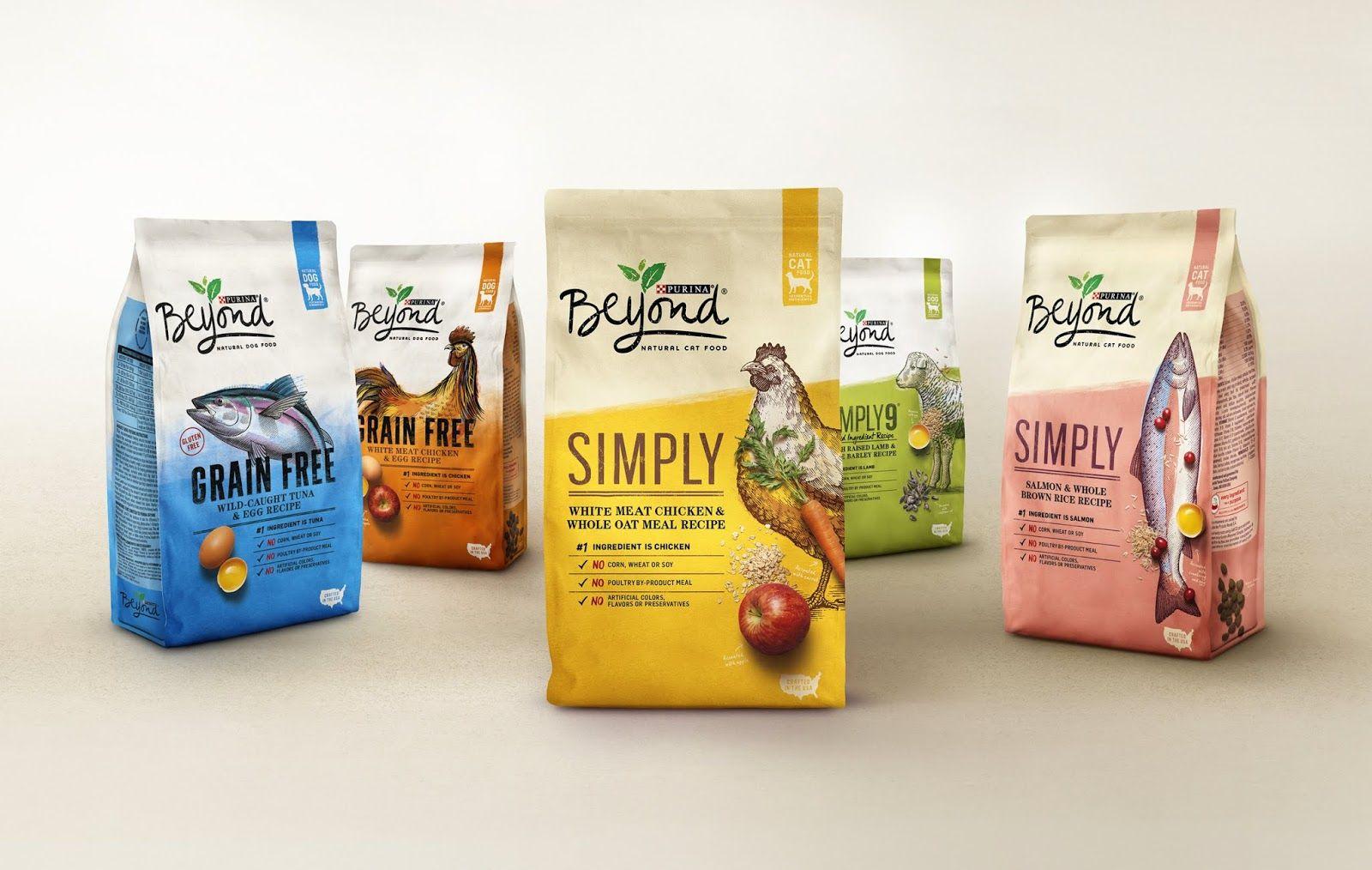 Purina beyond natural pet food pet food packaging