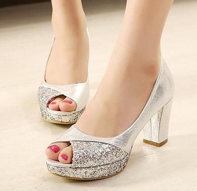 Check Out Our Website For Nice Shoes And Find Good Glitter Sequins Gold Heels Silver Wedding