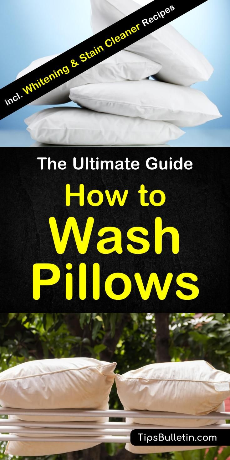 10+ Great Ways to Wash Pillows | Wash