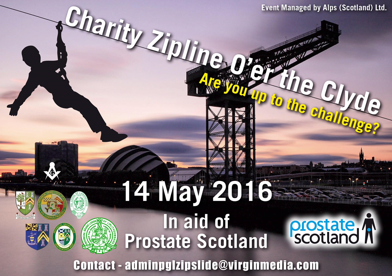 Jim McGregor of VSGWL is doing a zip slide over the Clyde on Saturday to raise funds for Prostate Scotland  http://bit.ly/1OpyoeI