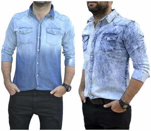 14 Ideas De Camisas Jeans Camisas Moda Hombre Ropa