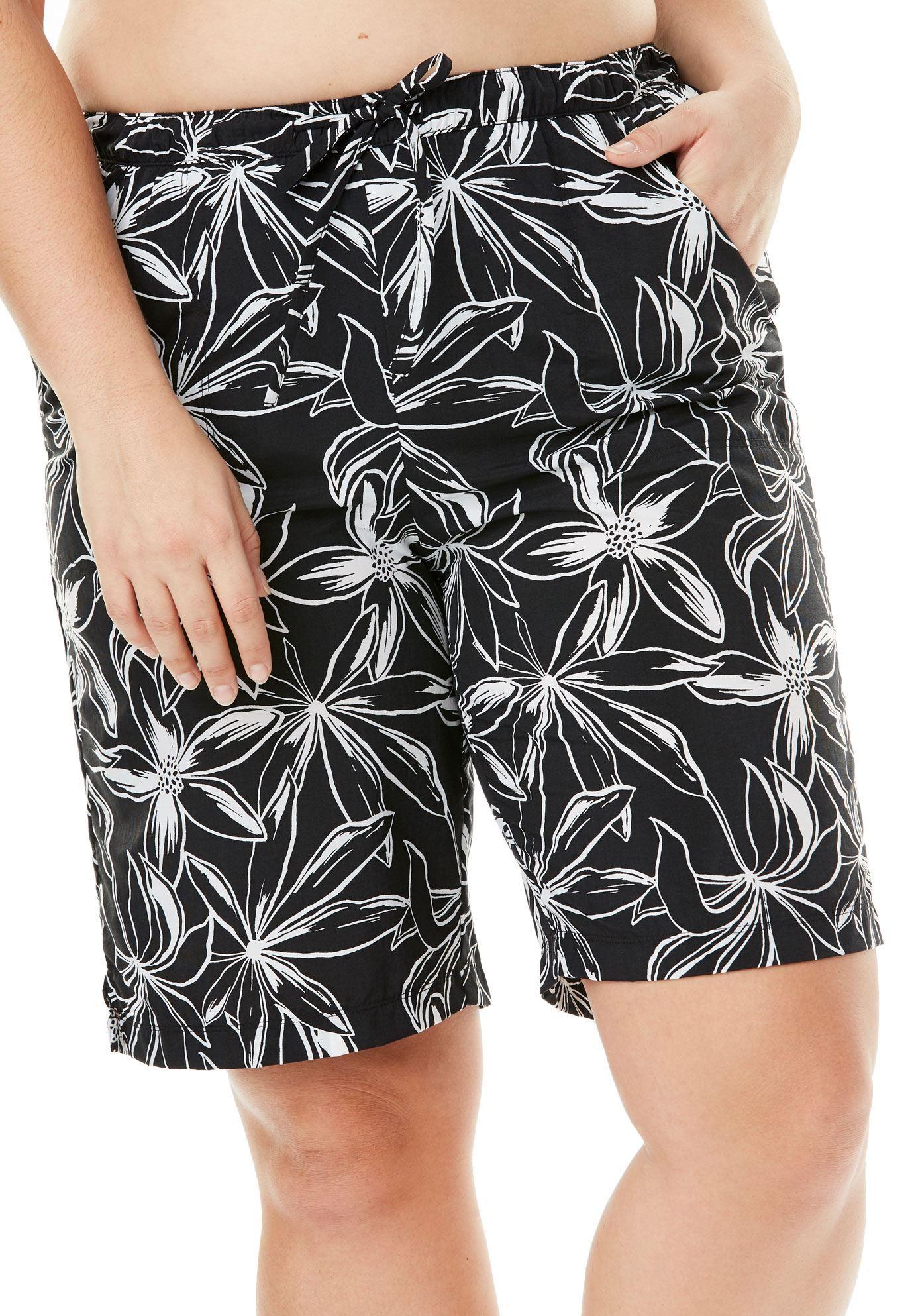 f88dae47d1b83 Long Taslon Board Shorts by Swim 365 - Women s Plus Size Clothing ...