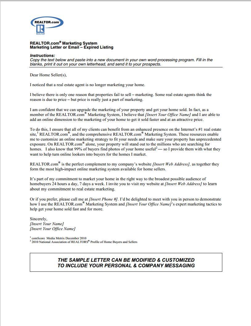 Real Estate Prospecting Letter Template Samples Real Estate