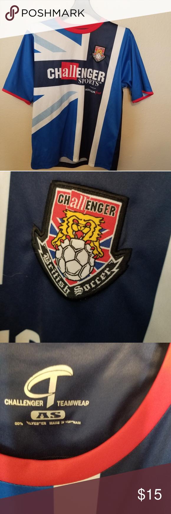 Challenger Sports British Soccer Futbol Shirt Futbol