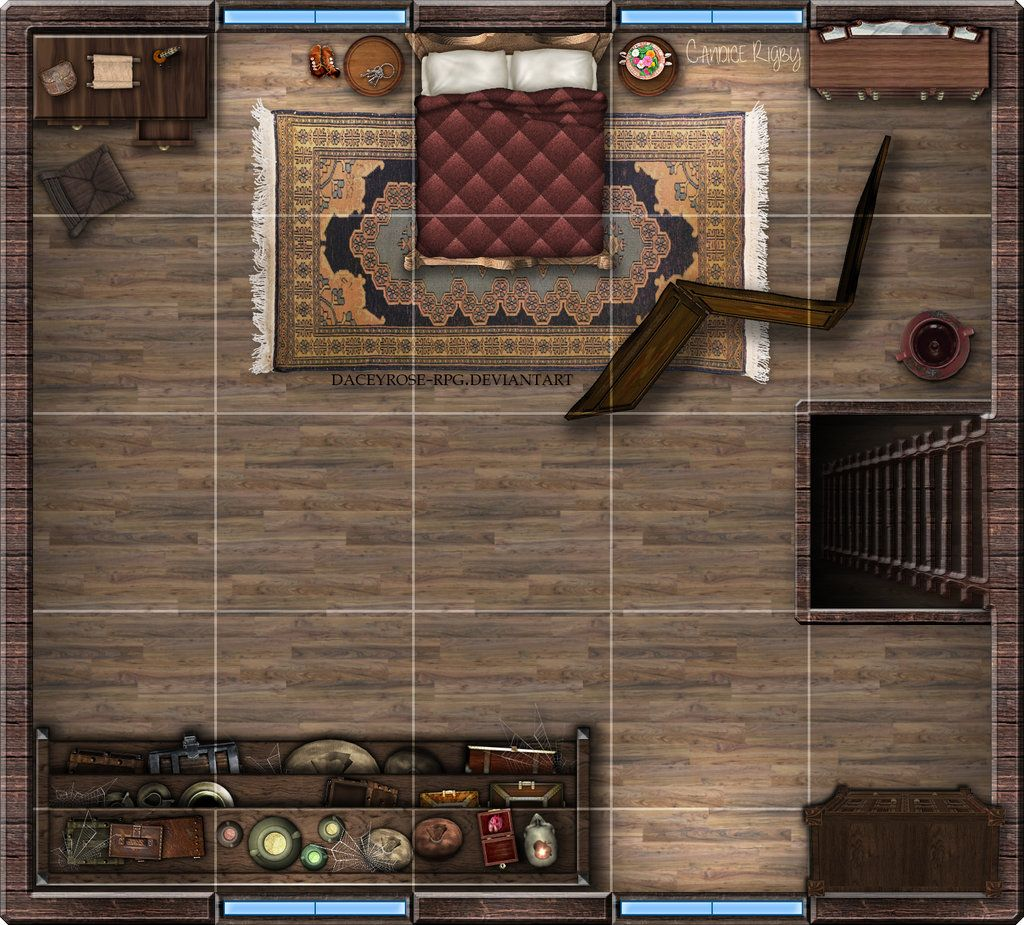 Small Tavern 2nd Floor By Daceyrose Rpg On Deviantart Fantasy Map Tabletop Rpg Maps Dungeon Maps