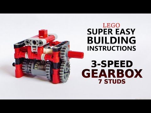 Super Easy Building Instructions 3 Speed Gearbox 7 Studs Lego