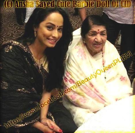 Ansha Sayed (Didi) with Lata Mangeshkar ji | Ansha Sayed