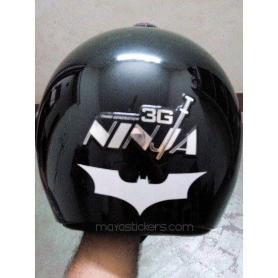 Batman Logo Sticker Applied On Motorcycle Helmet Buy Online From - Motorcycle helmet decals graphicsmotorcycle helmet graphics the easy helmet upgrade
