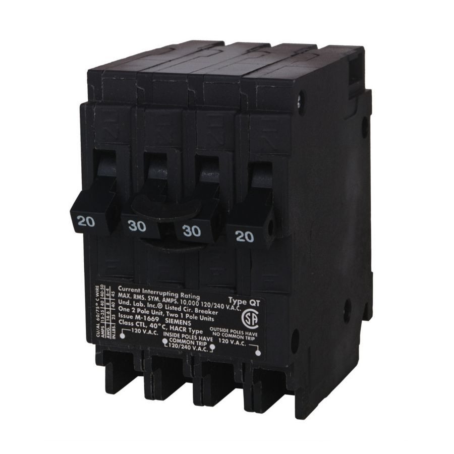 Siemens Qp 30 Amp 2 Pole Quad Circuit Breaker Q21530ct In 2020 With Images Breakers Circuit Siemens