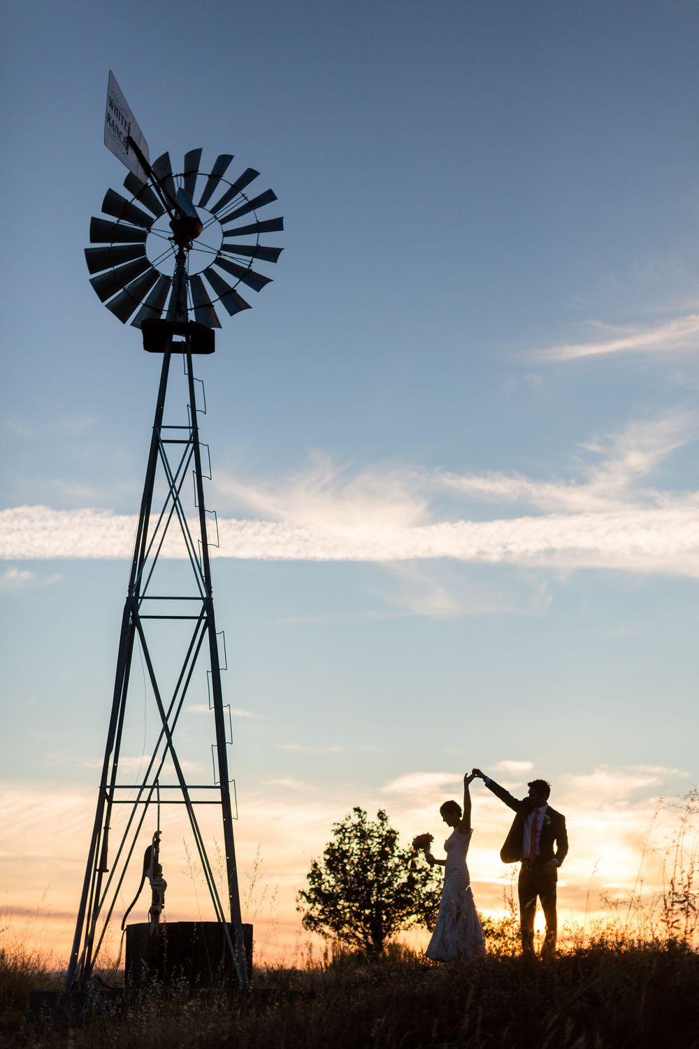 wedding locations north california%0A Bride and Groom Portrait Silhouette Sunset Dancing Spin Windmill    WhiteRanchWedding  WindmillSpinNorthern CaliforniaSilhouetteDancing California
