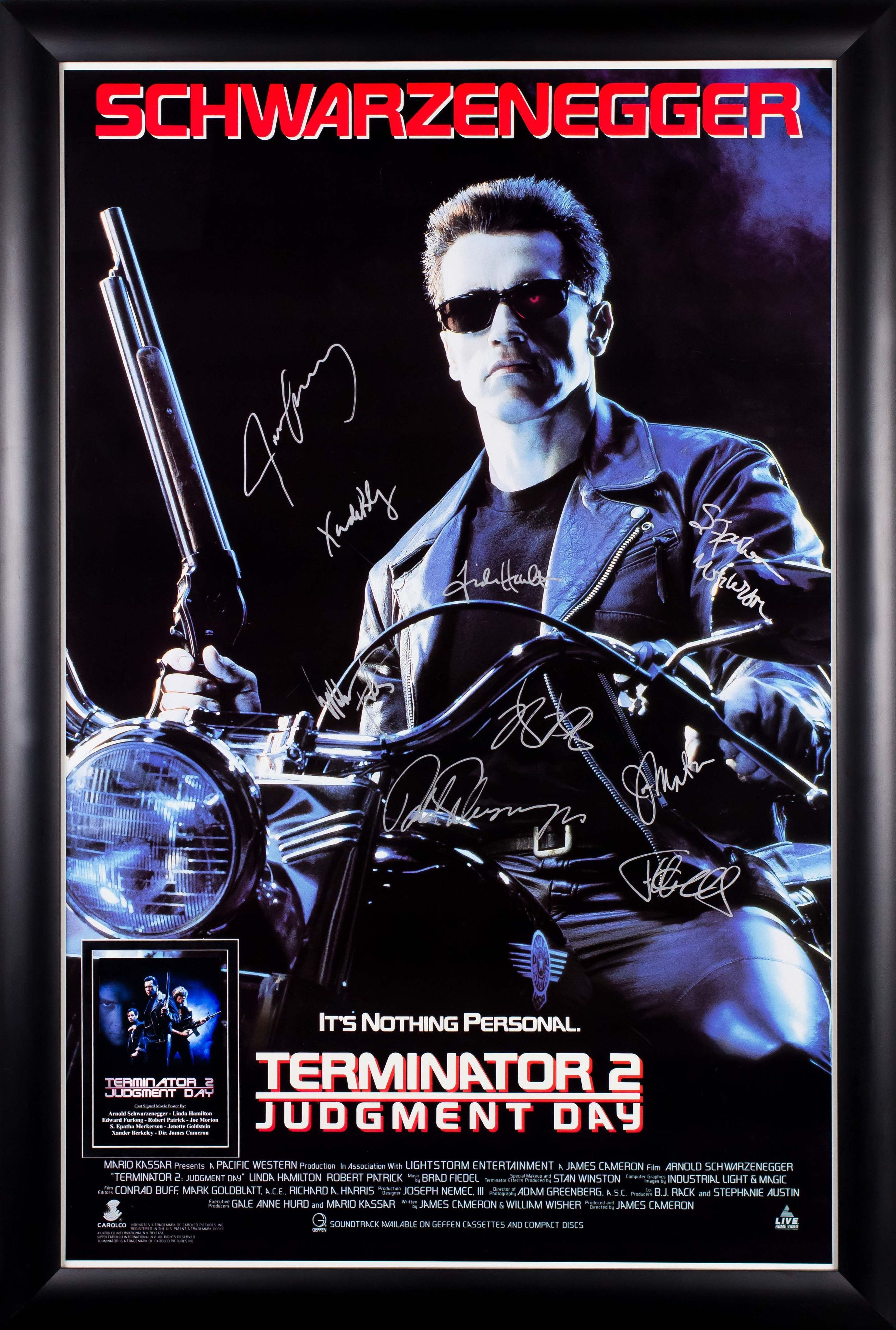 The Terminator 2 Judgement Day 1991 Movie Poster 23 x 35