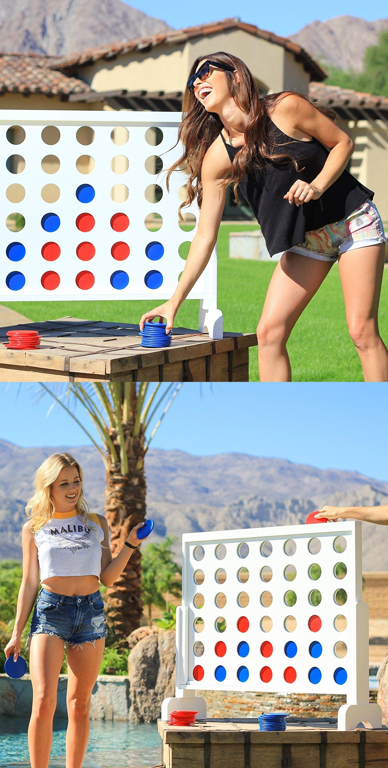 LOVE this giant 4 in a row game, it's just like connect 4