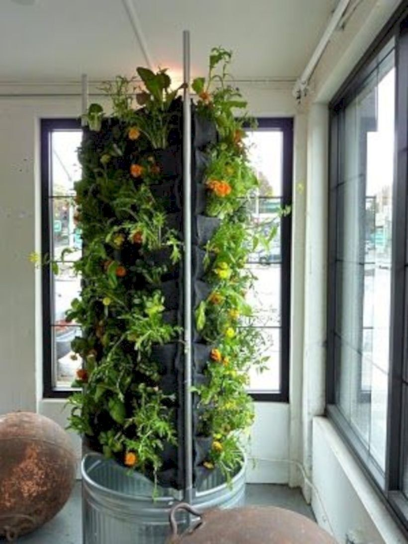 39 DIY Hydroponic Gardens for Your Small House is part of Indoor vegetable gardening, Vegetable garden design, Vertical vegetable gardens, Vertical vegetable garden, Vertical garden, Indoor garden - The simplest and most frequent choice is an Air Stone, which can be purchased at any hydroponics or aquarium supply shop  It solves this problem because it can be implemented anywhere  They are great because you don't have to deal with messy soil, and they can be automated to allow for very little maintenance