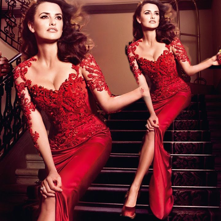 Red lace cocktail dresses for women