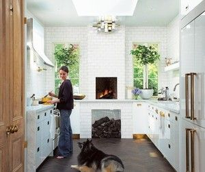 counter height fireplace with wood storage beneath | Kitchens ... on family room with tv on wall decorating ideas, fireplace diy, fireplace love, fireplace wood storage boxes,