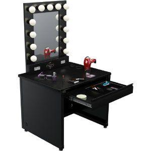 Broadway lighted vanity desk 36 x 30 black frame black surface broadway lighted vanity desk 36 x 30 black frame black surface aloadofball Image collections