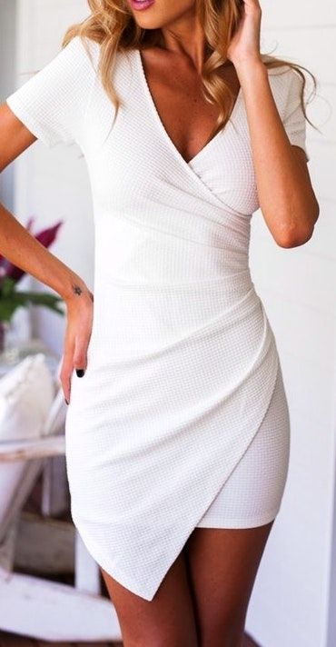 fc2d673cf43fe summer  outfits   white wrap dress