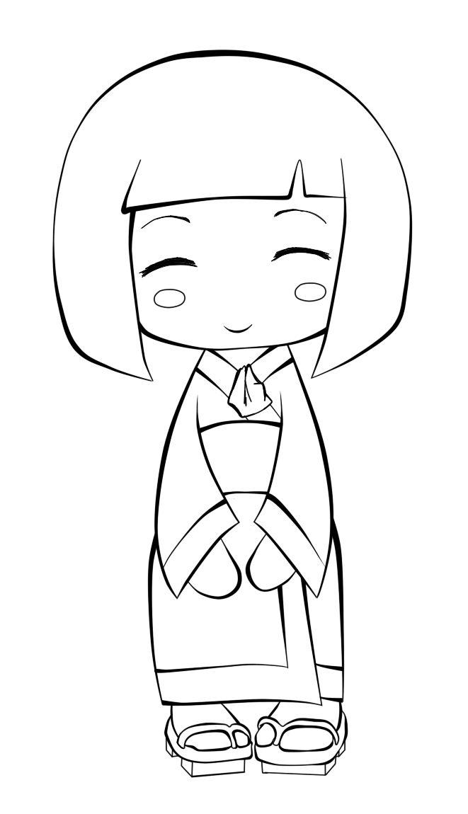 A Kokeshi Doll Redwork I Aplicacions