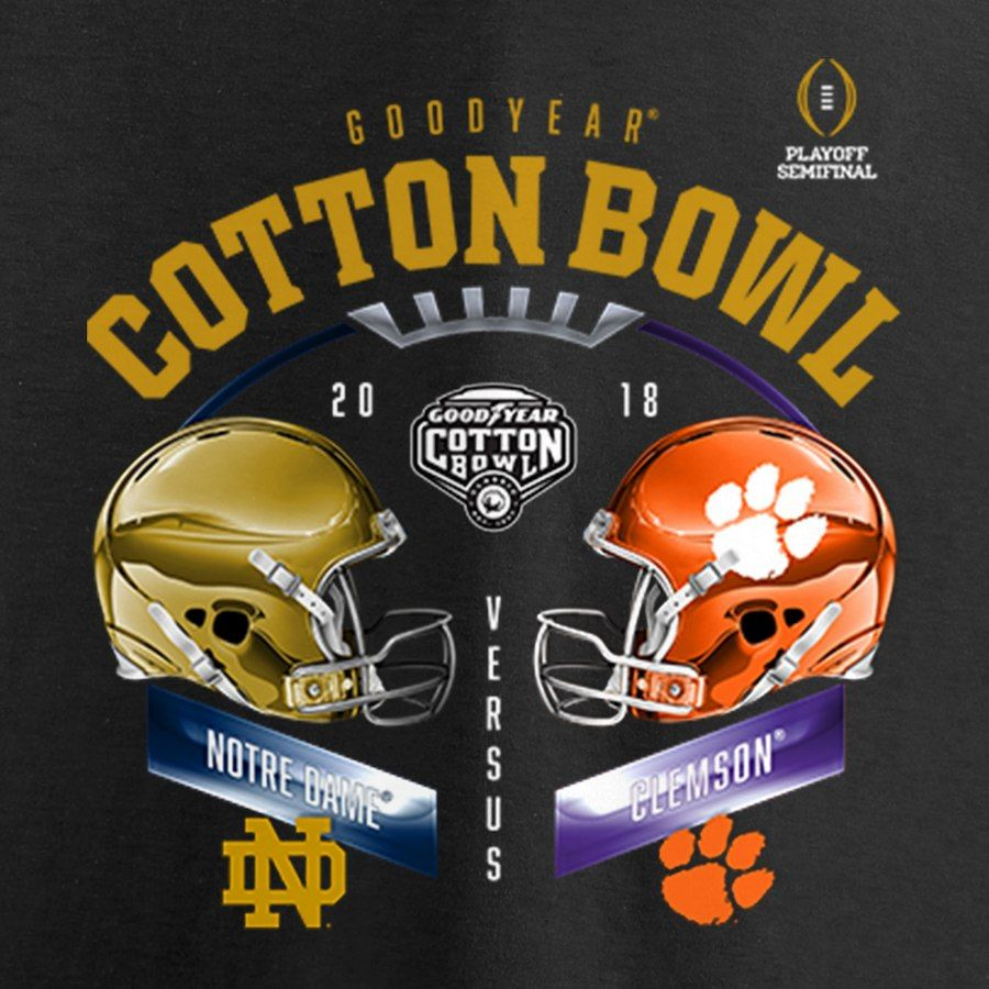 Clemson Tigers vs. Notre Dame Fighting Irish Fanatics Branded College  Football Playoff 2018 Cotton Bowl bf1e835fb