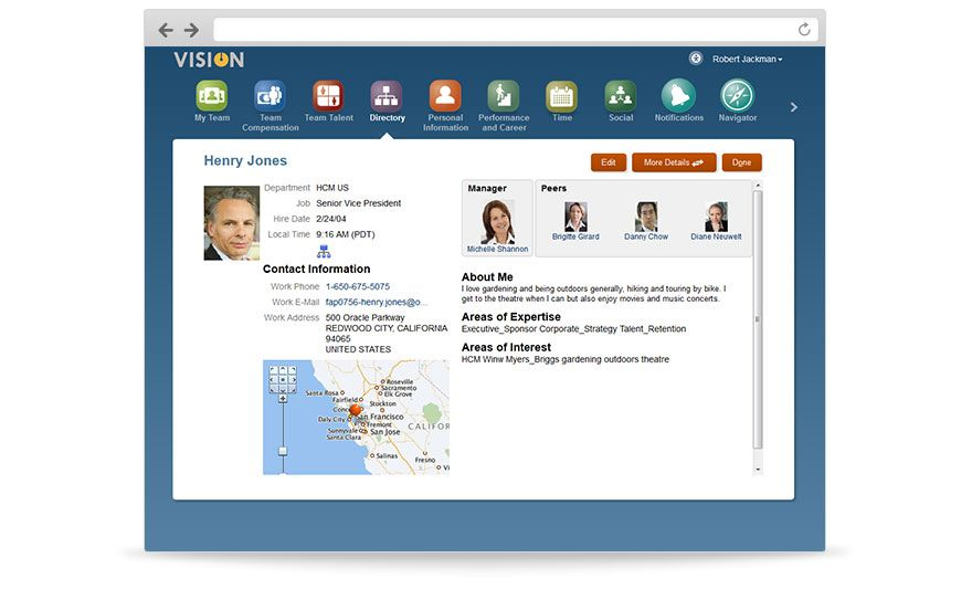 Oracle Hcm Cloud  Employee Profile  Oracle Hcm Cloud