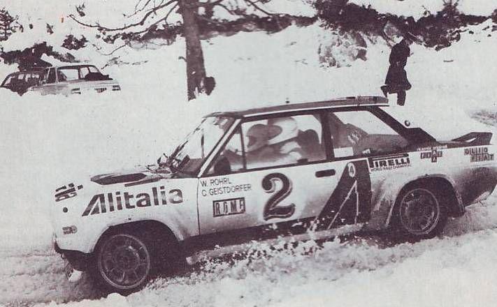 Walter Rohrl Fiat 131 Abarth 1978 Rallye Monte Carlo Rally