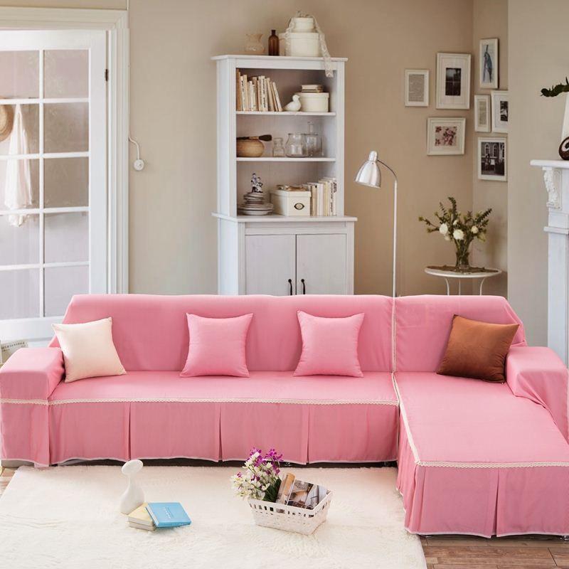 Unikea Pink Sofa Cover Sectional Sofa Covers For L Shaped Sofa