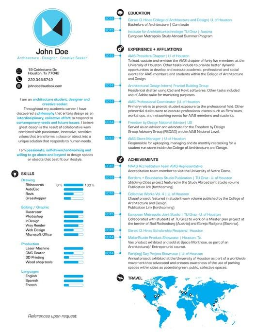 Gallery of The Top Architecture Résumé\/CV Designs - 4 Cv ideas - architecture resume