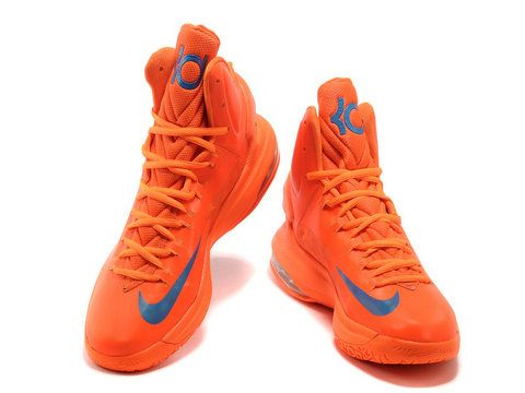 finest selection acf67 e7a22 Nike Zoom KD 5 Orange Blue,Style code:554988-104,It comes in a vivid orange  upper with blue accents on KD logo on the tongue and Nike swoosh logo.