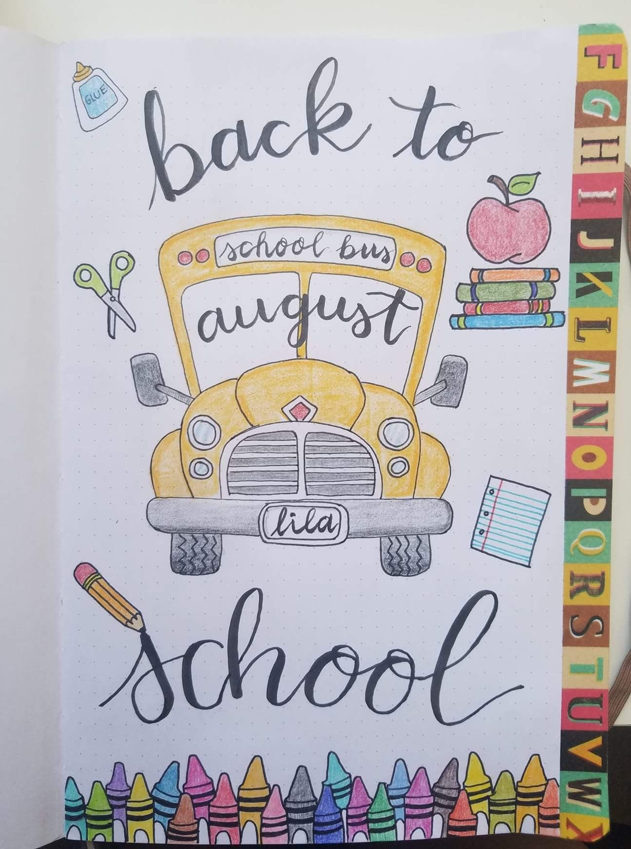 September Theme Back To School Bullet Journal Ecriture Dessin De Papier Idees De Journal