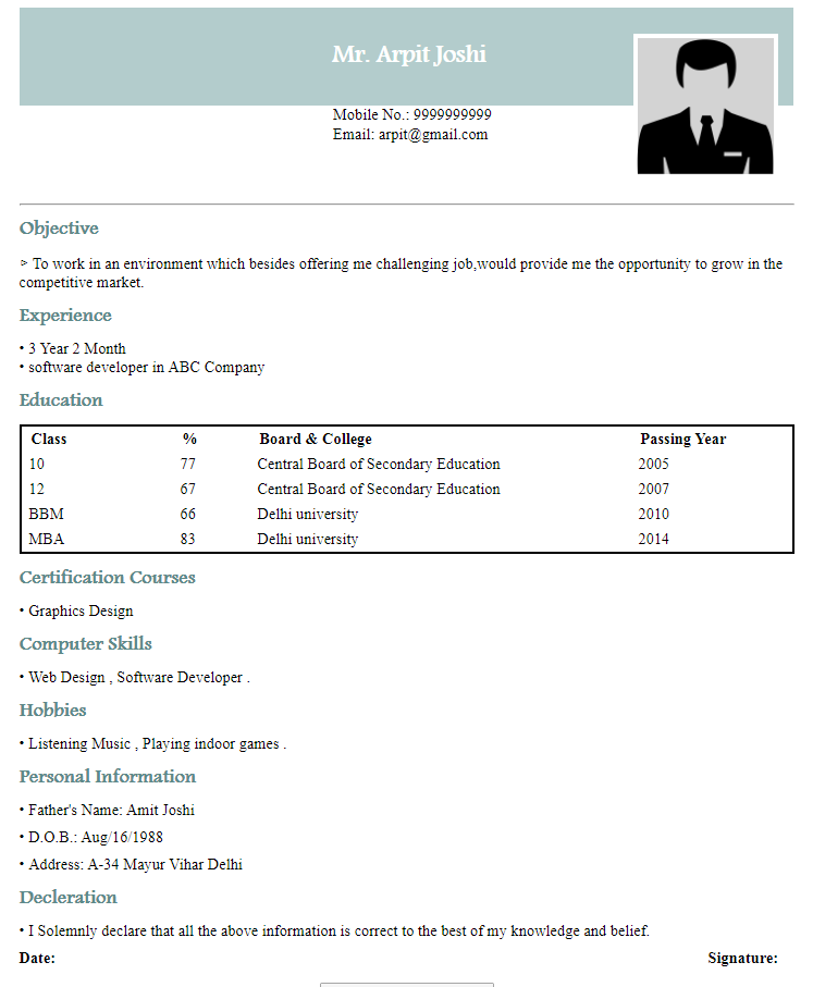 Free printable resume builder online resume samples for medical field