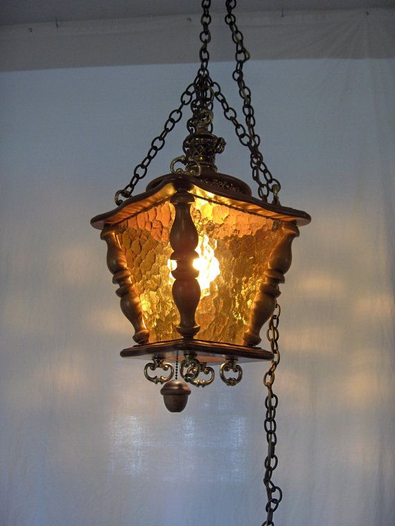 1960s Textured Amber Glass and Wood AMBER ALERT!! Pinterest
