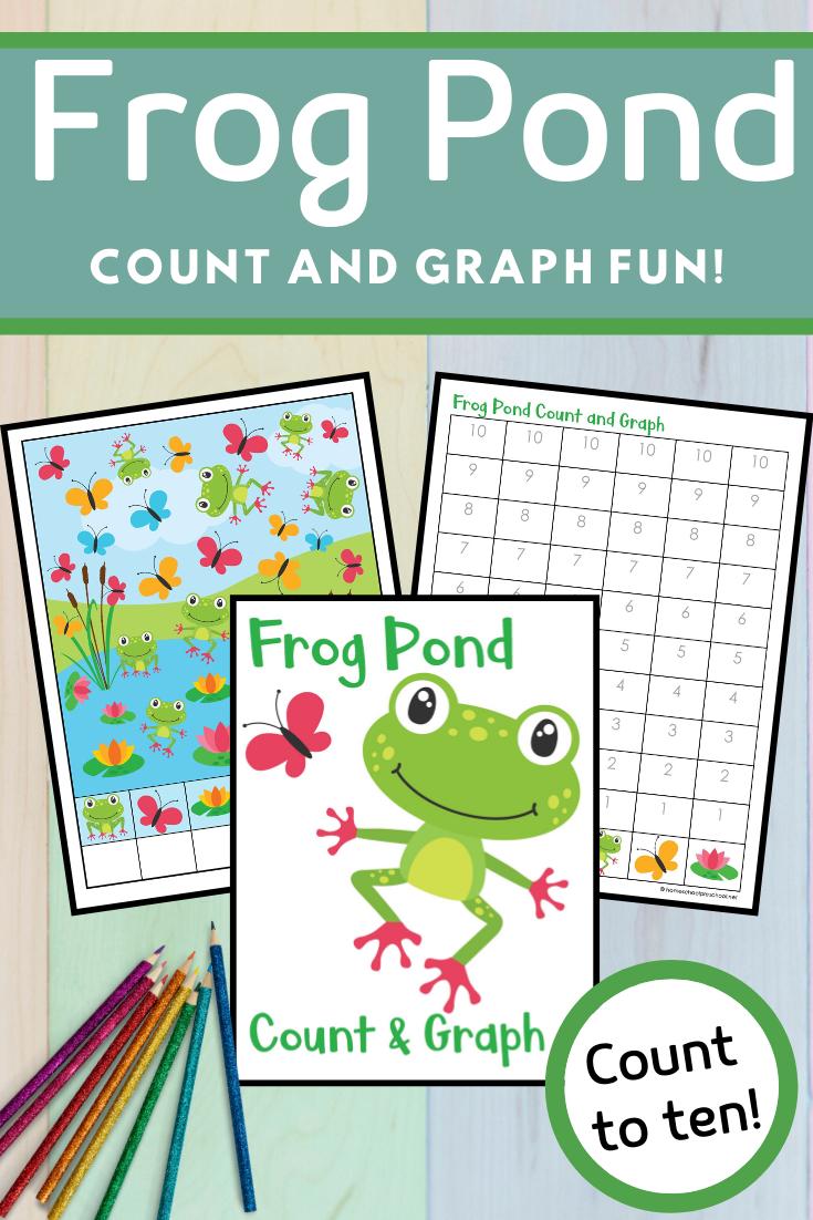 Frog Pond Count And Graph Math Activities Preschool Graphing Fun Kids Math Activities [ 1102 x 735 Pixel ]