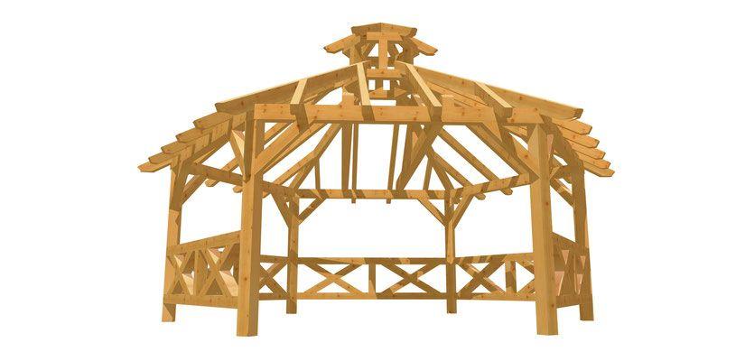 Holz 6 Eck Pavillon Selber Bauen Holz Bauplan De Pavillon Selber Bauen Selber Bauen Selber Bauen Holz