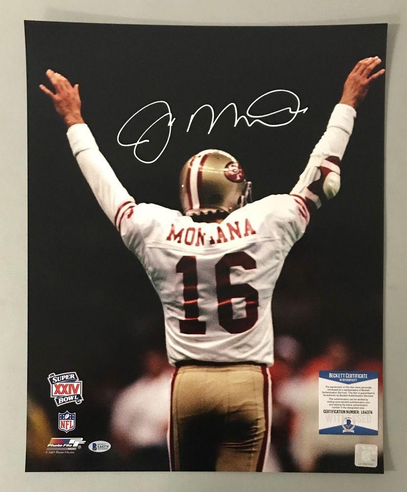 44d65e7e38e Joe Montana Signed 16x20 Photo Autographed AUTO BAS WITNESSED COA 49ers HOF