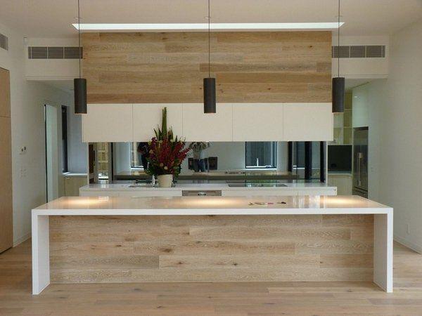 Modern Oak Kitchen Designs Kitchen Island White Countertop Black Mini  Pendant Lights