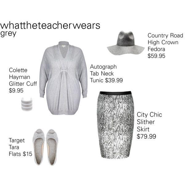 Grey #2 by whattheteacherwears on Polyvore featuring whattheteacherwears